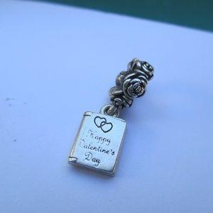 Pandora 925 ALE Sterling Silver Happy Valentines